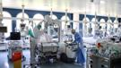The intensive care COVID unit at Dubrava Hospital