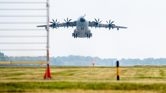 A plane carrying evacuees takes off from Afghanistan