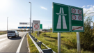 Toll booths on a motorway