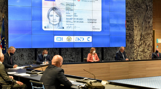 ID card presented in Zagreb