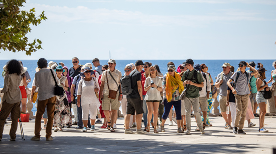 Tourists in Dubrovnik