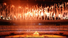 Fireworks at the opening of the Olympic Games in Tokyo