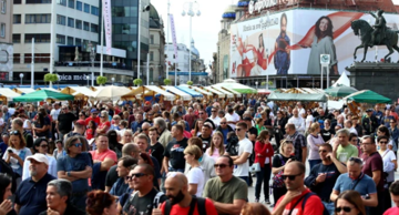 Protest against epidemiological measures in Zagreb