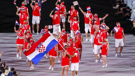 Croatian athletes at the Opening Ceremony