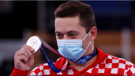 Tin Srbić with his Olympic silver